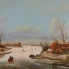 Eis, Holländische malerei, Winter, Realismus