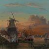 Realismus, Wolken, Menschen, Sonnenuntergang