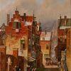 Gemälde, Haus, Zeitgenössischer maler, Solingen