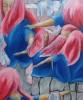 Drehen, Kreis, Acrylmalerei, Malerei
