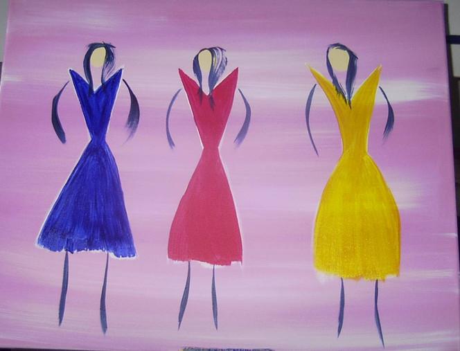 Malerei, Frau, Menschen, Girls