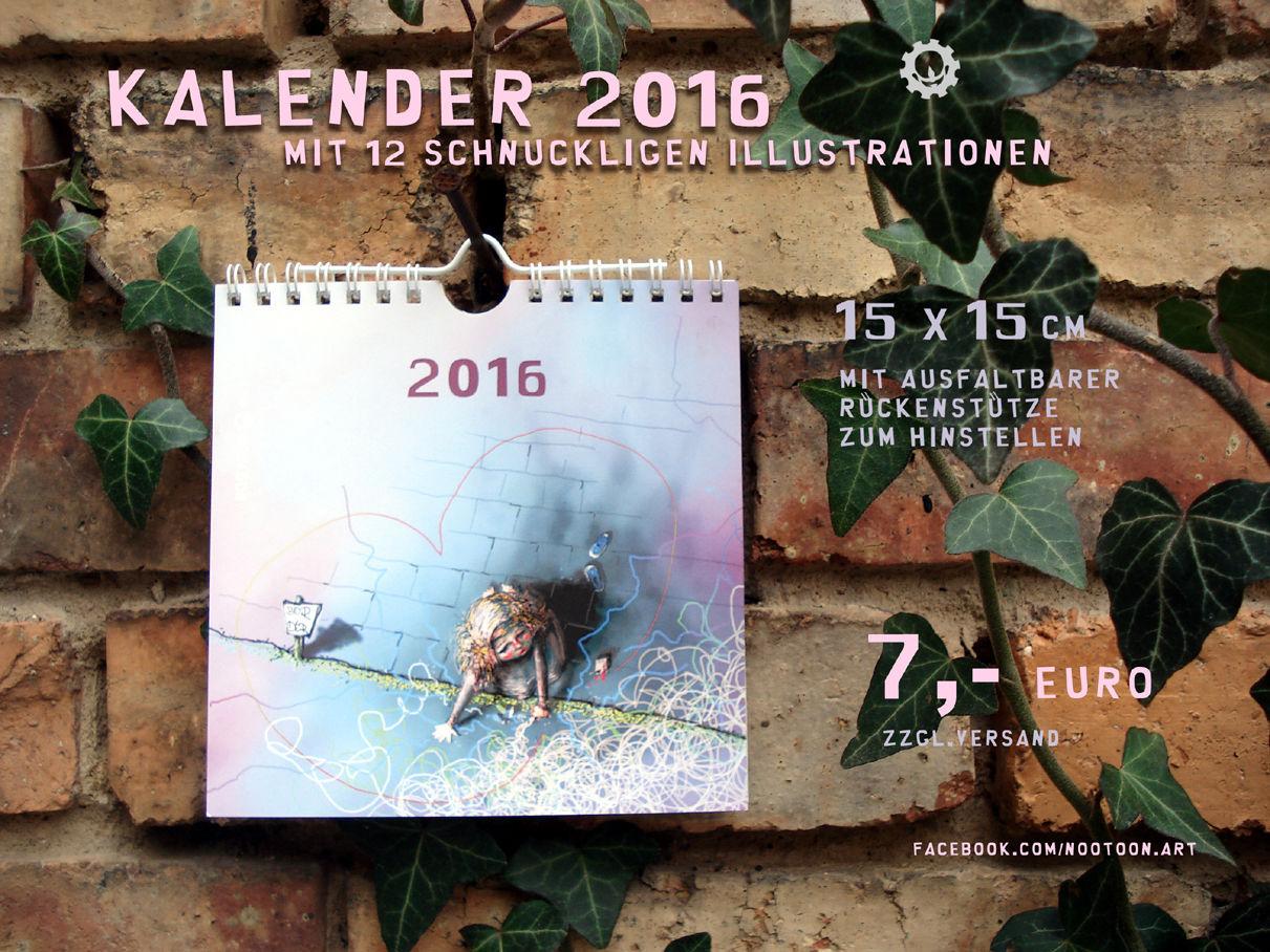 2016 kalender illustration pinnwand von gunar gr ve. Black Bedroom Furniture Sets. Home Design Ideas