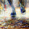*she walks like dancing* - contemporary illustration, germany, art, nootoon, rain, dance, priceless