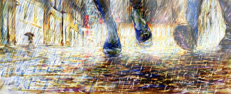 Contemporary illustration, Priceless, Regen, Deutschland, Tanz, Illustrationen