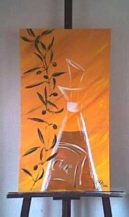 Malerei, Braun, Schwarz weiß, Sonne, Gelb, Ölmalerei