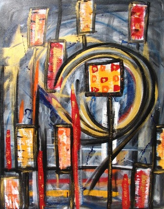 Finale, Abstrakt, Malerei