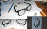 Perspektive zeichnen, 3d, Brille, Zeichnungen