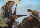Malerei, Western, Wüste, Figural