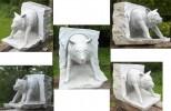 Skulptur, Stein, Skulpturen stein, Wolf