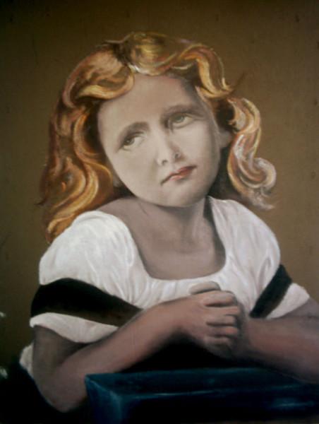 Mädchen, Portrait, Malerei,