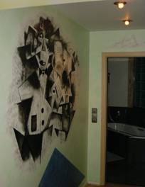 Wandgestaltung, Grafik, Abstrakt, Kubismus