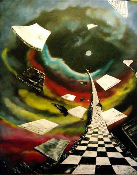 Straße, Malerei, Surreal, Welt