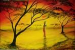 Lebenslust, Landschaft, Malerei, Afrika