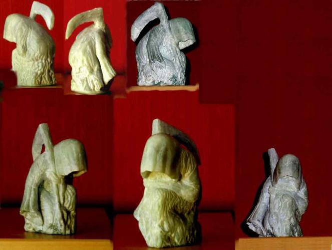 Stein, Tod, Kunsthandwerk, Speckstein, Meister