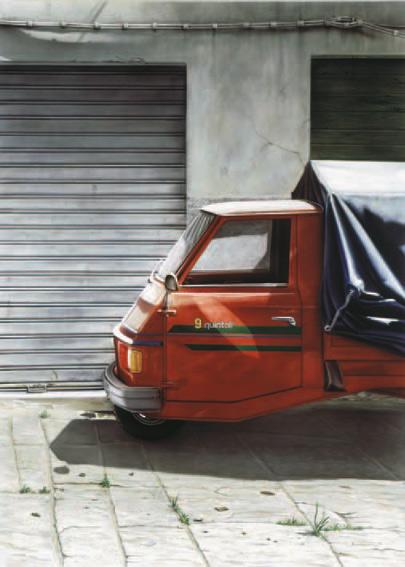Dreirad, Analog, Toskana, Rot, Auto, Realismus