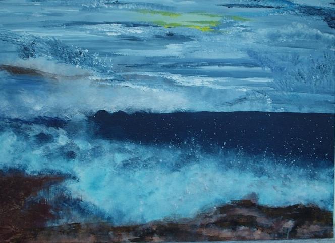 Malerei, Abstrakt, Eismeer