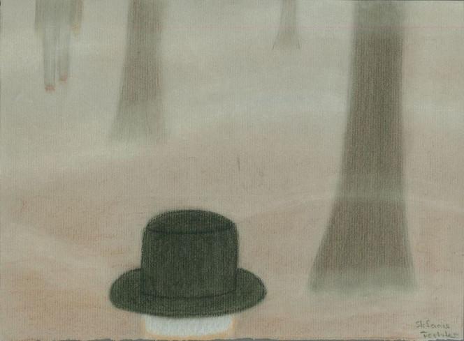 Malerei, Wald, Nebel, Einsamkeit