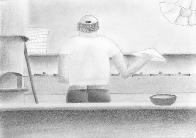 Pizza, Bäcker, Zeichnung, Zeichnungen