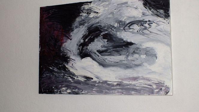 Malerei, Abstrakt, Liebe, Ölmalerei, Paar, Gefühl