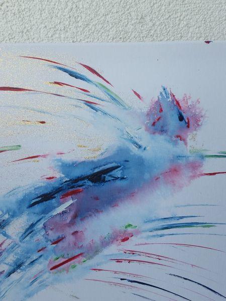 Tiere, Mystik, Phönix, Acrylmalerei, Abstrakte malerei, Vogel