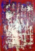 Rot, Abstrakt, Acrylmalerei, Blau