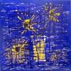 Modern, Acrylmalerei, Blau, Malerei