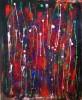 Malerei, Acrylmalerei, Modern, Rot schwarz