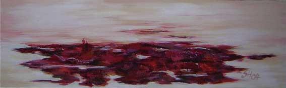 Abstrakt, Malerei, Wunde, Landschaft, Schorf