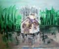Eis, Wasser, Malerei, Wand