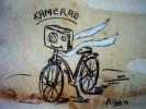 Fahrrad, Kamera, Malerei