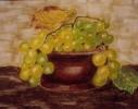 Stillleben, Früchte, Malerei, Weintrauben