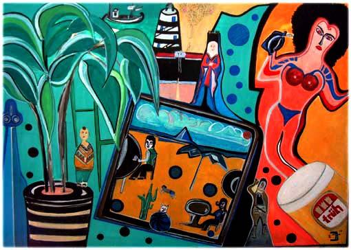 Malerei, Krank, Surreal, Sehnsucht