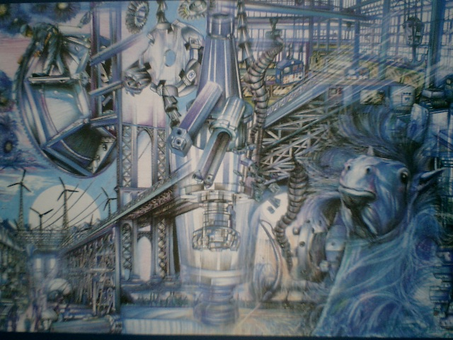 Maschine, Blau, Technik, Malerei, Metall, Bearbeitung