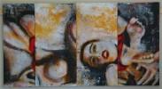 Liegen, Malerei, Akt, Holz