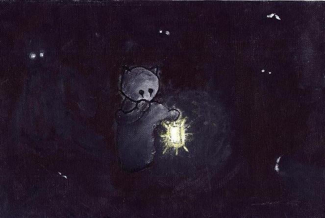Hoffnung, Dunkel, Malerei, Allein,