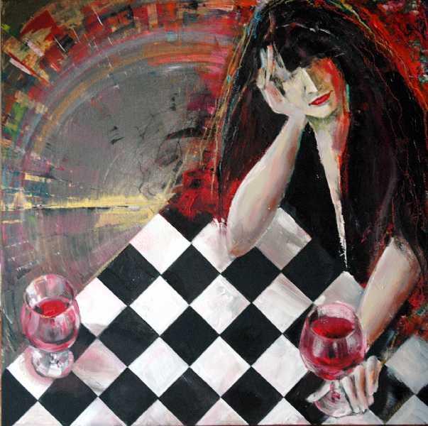 Abstrakt, Malerei, Allein
