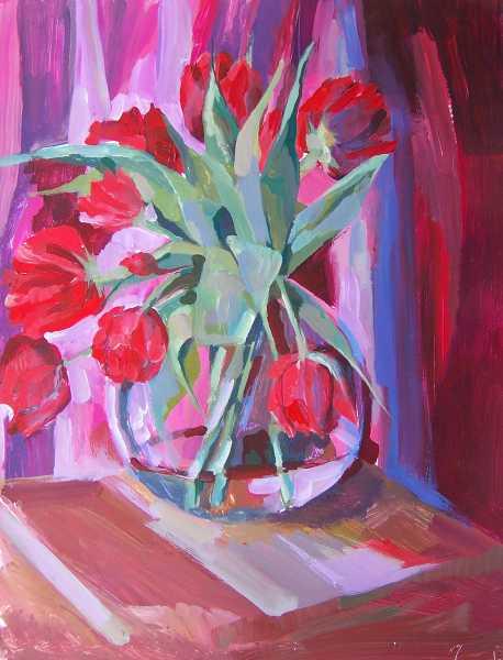 Malerei, Stillleben, Pink