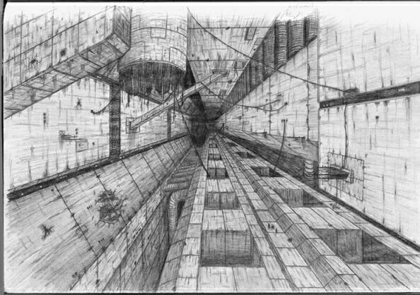 Zeichnung, Blame, Science fiction, Zeichnungen, Inspiration,
