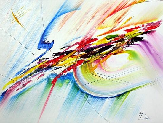 Bild regenbogen abstrakt malerei von herbert diepold bei kunstnet - Herbergt s werelds spiegelt ...