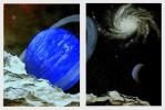 Landschaft, Weltall, Spiralgalaxie, Schwerelos