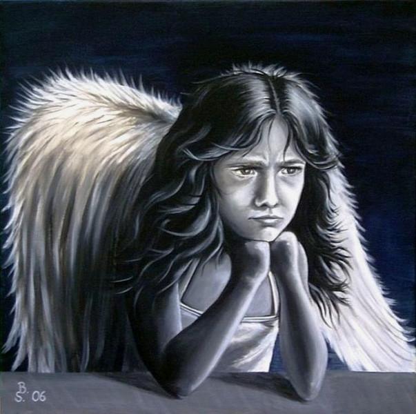 Figural, Engel, Zorn, Malerei, Menschen, Scheiß