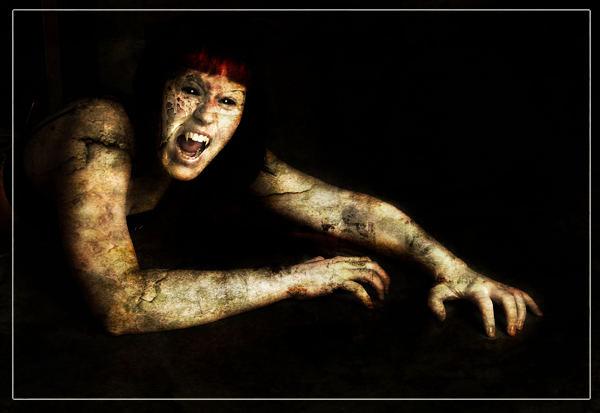 Dämon, Digital, Grusel, Monster, Surreal, Digitale kunst