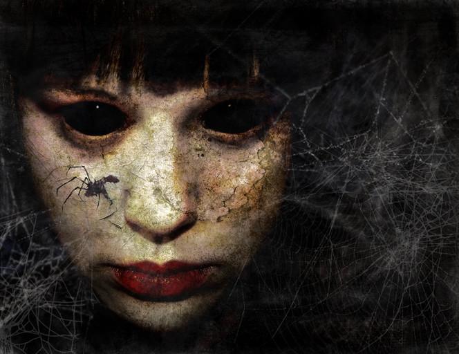 Surreal, Digital, Arachnophobie, Spinne, Angst, Digitale kunst