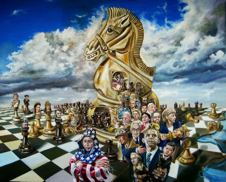 Apokalypse, Magischer realismus, Schach, Obama, Trojaner, Bibel