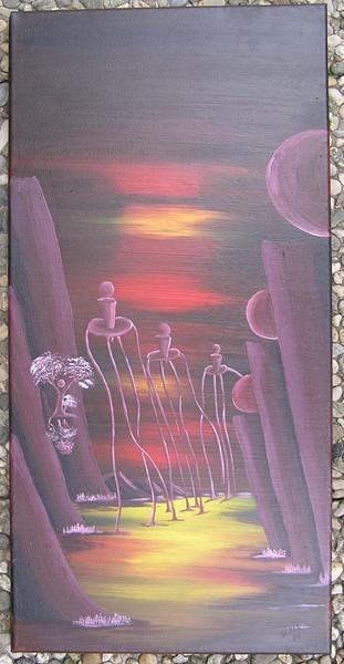Surreal, Wanderung, Malerei, Abstrakt, Acrylmalerei