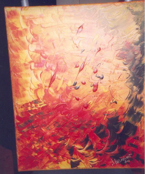 Hölle, Rot, Dunkel, Abstrakt, Feuer, Malerei