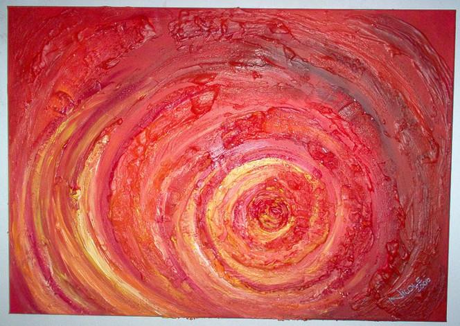 Gelb, Malerei, Feuer, Strukturieren, Rot schwarz, Sturm