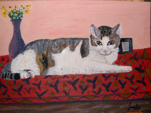 Katze, September2006, Malerei
