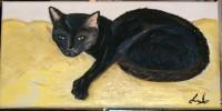Zoe, Katze, Oktober2006, Malerei
