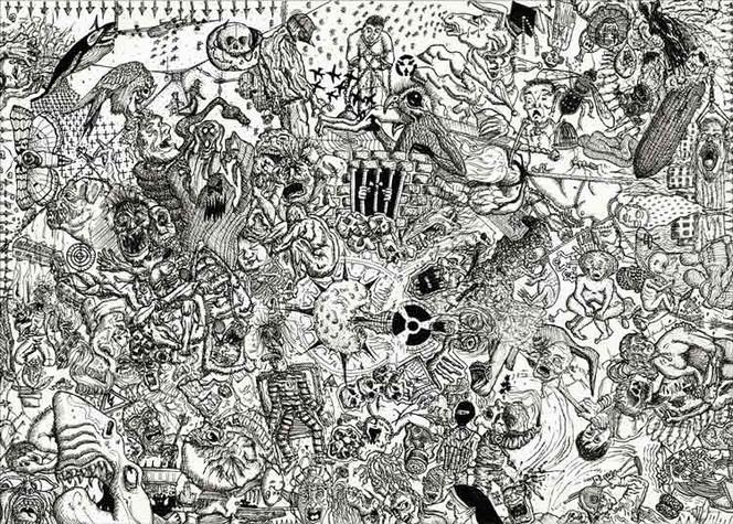 Skizze, Malerei, Frust, Welt